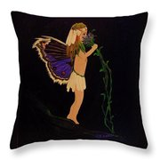 Fairy Girl Throw Pillow