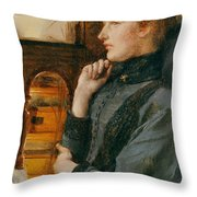 Far Away Thoughts Throw Pillow by Sir Lawrence Alma-Tadema