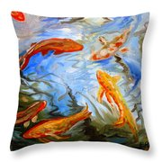 Fish Reflections Throw Pillow