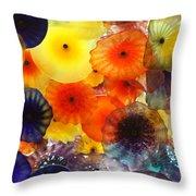 Glass Flowers Throw Pillow