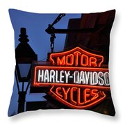 Harley Davidson New Orleans Throw Pillow