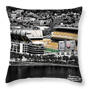 Heinz Field Throw Pillow by Scott Wyatt