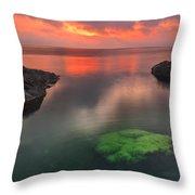 Hidden Green Throw Pillow