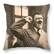 Hitler The Orator Throw Pillow by Al Bourassa