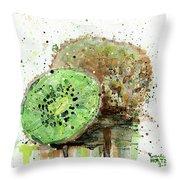 Kiwi 1 Throw Pillow
