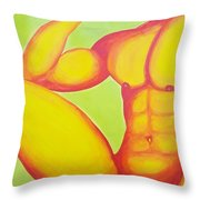 Leg Up On The Competition Throw Pillow