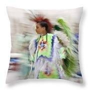 Little Wind Dancer Throw Pillow