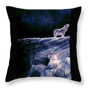 Lone Wolf I Throw Pillow
