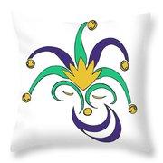 Mardi Gras Jester Throw Pillow