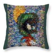 Marvin The Martian Mosaic Throw Pillow