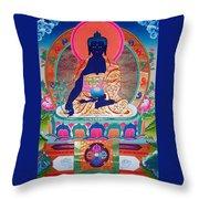 Medicine Buddha 11 Throw Pillow