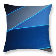 More And More Blue Throw Pillow