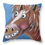 Mr Horse Throw Pillow