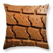 Muddy Tire Throw Pillow