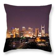 Nashville Cityscape 3 Throw Pillow by Douglas Barnett