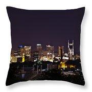 Nashville Cityscape 4 Throw Pillow