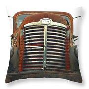 Old International Gravel Truck Throw Pillow by Randy Harris