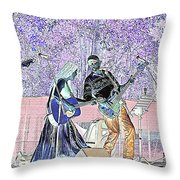 Performers On Stage Throw Pillow