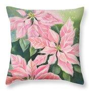 Pink Delight Throw Pillow by Deborah Ronglien