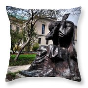 Rackham Statue Throw Pillow