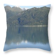 Reflective Moment In Glacier Bay Throw Pillow
