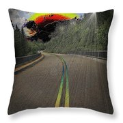 Road To Darkness Throw Pillow
