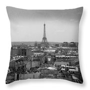 Roof Of Paris. France Throw Pillow