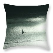 Seattle Sail Boat Throw Pillow