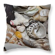 She Sells Seashells Throw Pillow