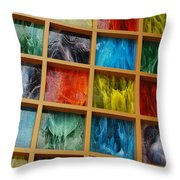 Square Colors Throw Pillow