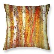 Strange Forest Throw Pillow