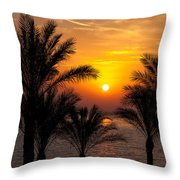 Sunrise Over The Red Sea Throw Pillow