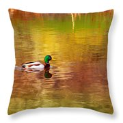 Swimming In Reflections Throw Pillow