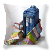 Tardis Ll Throw Pillow