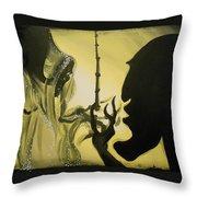 The Wand Of Destiny Throw Pillow by Lisa Leeman