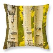 Three Autumn Aspens Throw Pillow by James BO  Insogna