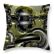 Twisted Logic Throw Pillow
