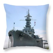 Uss Alabama Throw Pillow