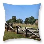 View Of Clover Hill Tavern Appomattox Court House Virginia Throw Pillow by Teresa Mucha