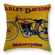 Vintage Harley Davidson Throw Pillow