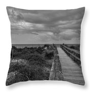 Walk To The Beach Alantic Beaches Nc Throw Pillow