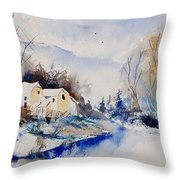Watercolor  080408 Throw Pillow