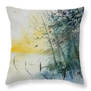 Watercolor  080708 Throw Pillow