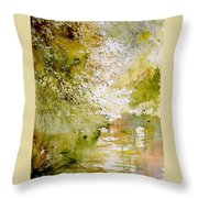 Watercolor  211005 Throw Pillow
