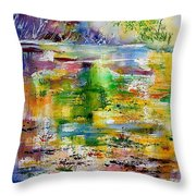Watercolor 6878 Throw Pillow