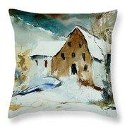 Watercolor 9696 Throw Pillow