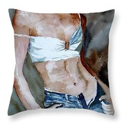 Watercolor  Nude 100405 Throw Pillow