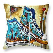 Whimsical Shoes By Madart Throw Pillow