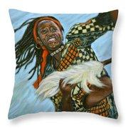 Woman Dancing Throw Pillow