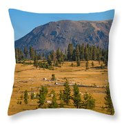 Yosemite Highlands Throw Pillow